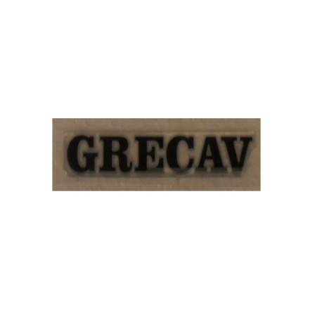 """BAF90-0009518 LOGO / ADHÉSIF HAYON NOIR """"GRECAV"""" EKE LM4 LM5"""
