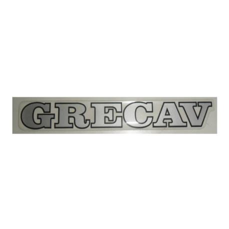 """BAF90-0007866 LOGO / ADHÉSIF HAYON GRIS """"GRECAV"""" EKE LM4"""