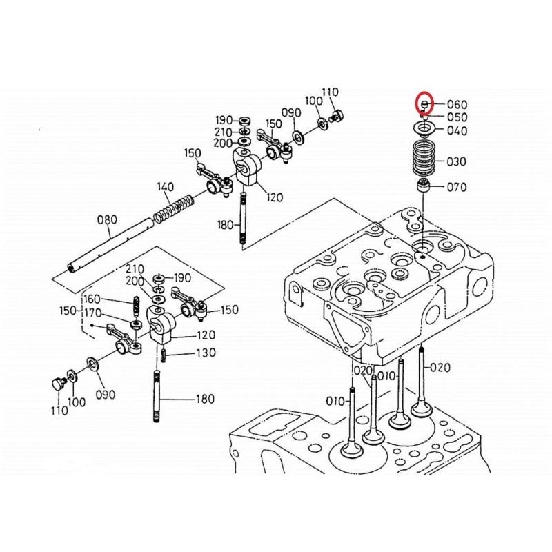 k168511328 engine valve cap kubota z402 z482 z602 aixam