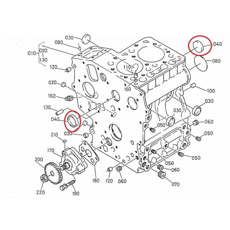 k154519627 tappo fusione motore kubota z402 z482 z602 aixam