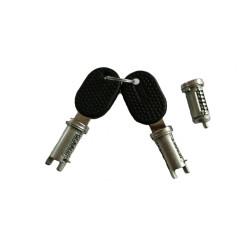 F0489000102 LOCK SET 3 PIECE LEFT RIGHT SIDE REAR CASALINI YDEA PIAGGIO M500
