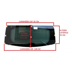 7AE114XD HEATED TINTED REAR WINDSCREEN / CAR WINDOW AIXAM CROSSLINE