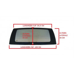 107429 HEATED TINTED REAR WINDSCREEN / CAR WINDOW JDM ABACA
