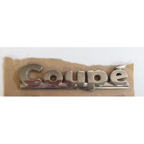 "7AX411 CHROME BADGE EMBLEM STICKER ""COUPÉ"" AIXAM COUPE GAMME VISION"