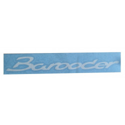 25.22.013 WHITE BUMPER STICKER CHATENET BAROODER