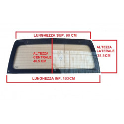1000429 HEATED REAR WINDSCREEN / CAR WINDOW MICROCAR VIRGO I II III