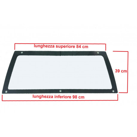 0680267 REAR WINDSCREEN / CAR WINDOW MICROCAR LYRA