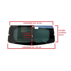 7AR114XD HEATED TINTED REAR WINDSCREEN AIXAM CITY IMPULSION GTO VISION