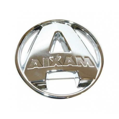 7AG324 CHROME BADGE / EMBLEM AIXAM CITY SCOUTY IMPULSION GTO CROSSOVER COUPE
